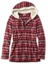 L.L. Bean Fair Isle Fleece-Knit Jacket, Print