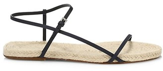 The Row Bare Flat Leather Espadrille Sandals