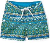 Kanu Surf Blue & Green Geometric Carrie Boardshorts - Girls