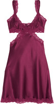Stella McCartney Clara Whispering lace-trimmed stretch-silk chemise