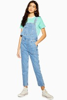 Topshop Mid Blue Pocket Denim Overalls