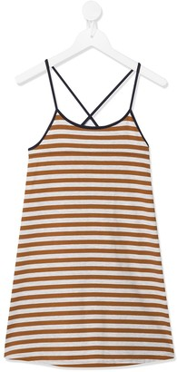 Caramel Tooting striped dress