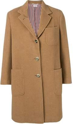 Thom Browne Camel Hair Sack Overcoat