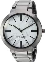 Nine West Women's NW/1985HLTE Marbleized Dial Bracelet Watch