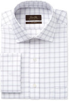 Tasso Elba Men's Classic-Fit Non-Iron Double Windowpane French Cuff Dress Shirt, Only at Macy's