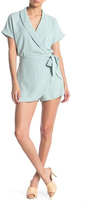 One One Six Shawl Collar Wrap Romper