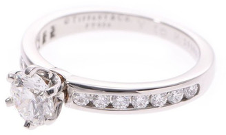 Tiffany & Co. Pt950 Platinum and Diamond Ring Size 46