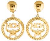 MCM Logo Drop Earrings