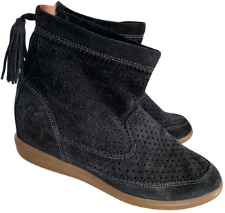 Isabel Marant Basley Navy Suede Ankle boots