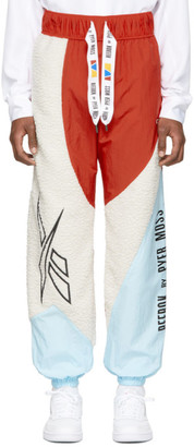 Reebok by Pyer Moss White and Red Collection 3 Sherpa Track Pants