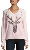 Wildfox Couture V-Neck Graphic Pullover