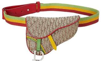 Christian Dior Rasta Diorissimo Saddle Belt Bag Mini
