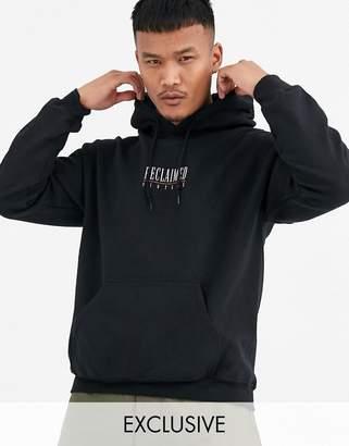 Reclaimed Vintage inspired branded hoodie-Black