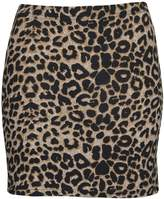 Thever Womens Ladies Skull Rose Kapow Leopard Stripe Tartan Dog Tooth Mini Skirt (2XL-UK (20-22), )