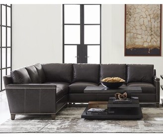 Lexington Carrera Left Hand Facing Leather Sectional
