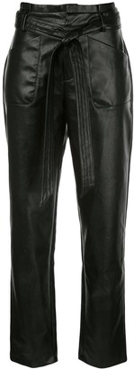Alexis Textured High Waisted Trousers