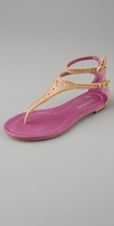 farylrobin Wee Punched & Studded Thong Sandal