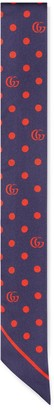 Gucci Polka dot and Double G silk neck bow