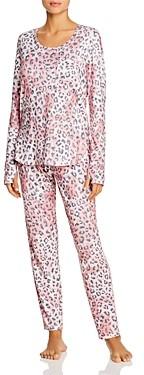 Josie #PJsAllDay Animal Print Long Pajama Set