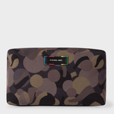 Men's Khaki Camouflage Print Wash Bag