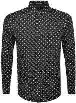 Replay Long Sleeved Shirt Black