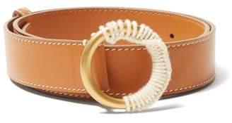 Roksanda Yarn Wrapped Buckle Leather Belt - Womens - Tan