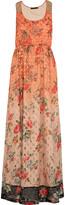 Vineet Bahl Embellished georgette maxi dress