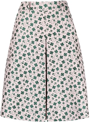 Boutique Moschino floral print A-line skirt