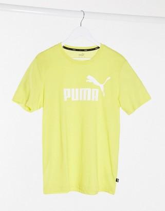 Puma chest logo t-shirt in yellow