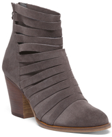 Strappy Block Heel Leather Booties