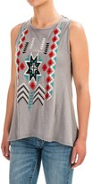 Roper Tribal Embroidered Tank Top (For Women)