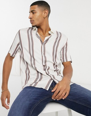Topman shirt with stripe in pink