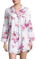 Saks Fifth Avenue COLLECTION Floral-Print Sateen Sleepshirt