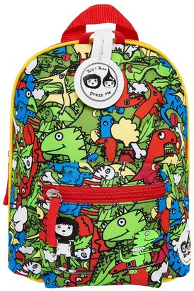 "Babymel Zip & Zoe Mini 10"" Kid' Backpack & afety Harne - Dino Multi"