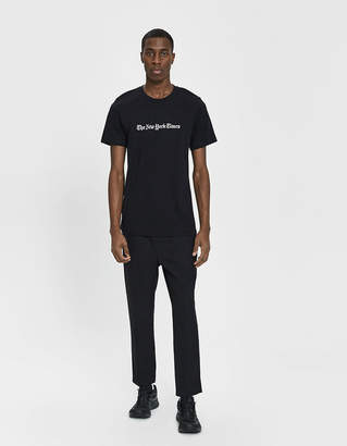 The New York Times S/S Logo Tee in Black