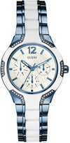 GUESS Women's Blue and White Ion-Plated Stainless Steel Bracelet Watch 36mm U0556L9