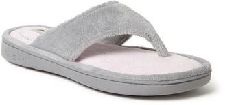 Dearfoams Women's Melanie French Terry Sandal Slippers