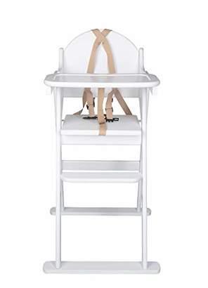 Kurt Geiger Safetots Putaway Folding Wooden High Chair, White, 8.5