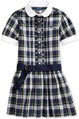 Polo Ralph Lauren Toddler Girl Plaid Cotton Madras Shirtdress