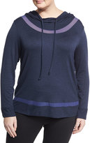 The Balance Collection Plus Long-Inset Mesh-Inset Hoodie, Plus Size