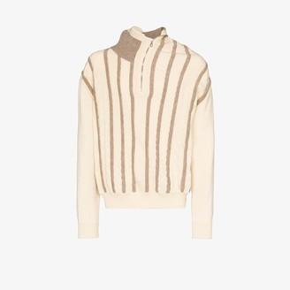 Y/Project Asymmetric collar wool sweater