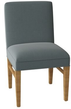 Sloane Whitney Sutton Upholstered Parsons Chair Body Fabric: Angela Cloud, Leg Color: Natural