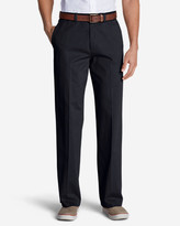 Eddie Bauer Men's Casual Performance Chino Flat-Front Pants - Relaxed Fit