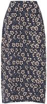 Thumbnail for your product : Rixo Georgia Printed Silk Midi Skirt