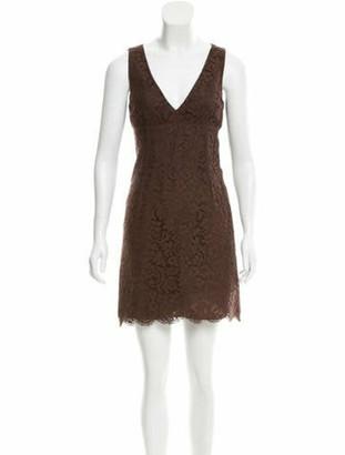 Michael Kors Lace Mini Dress Brown