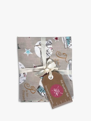 Visage Textiles A Christmas Tale Print Fat Quarter Fabrics, Pack of 4, Multi