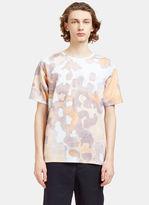 Acne Studios Men's Niagara Faded Print T-shirt In Blue, Mauve And Orange
