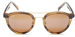 Maui Jim Women's Sunny Days Polarized Brow Bar Round Sunglasses, 49mm