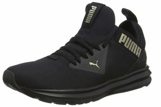 Puma Women's Enzo Beta WN's Running Shoes Black-Metallic Gold 8 UK 42 EU