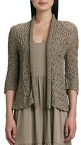 Joan Vass Tape Yarn Knit Cardigan